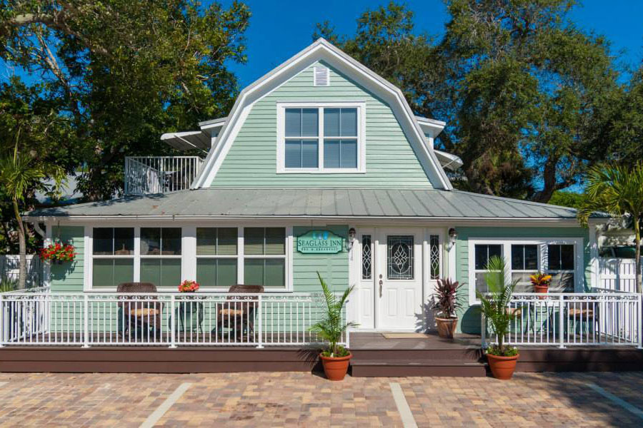 front exterior of SeaGlass Inn Bed and Breakfast