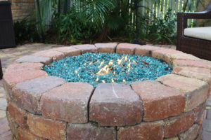 fire pit in daylight