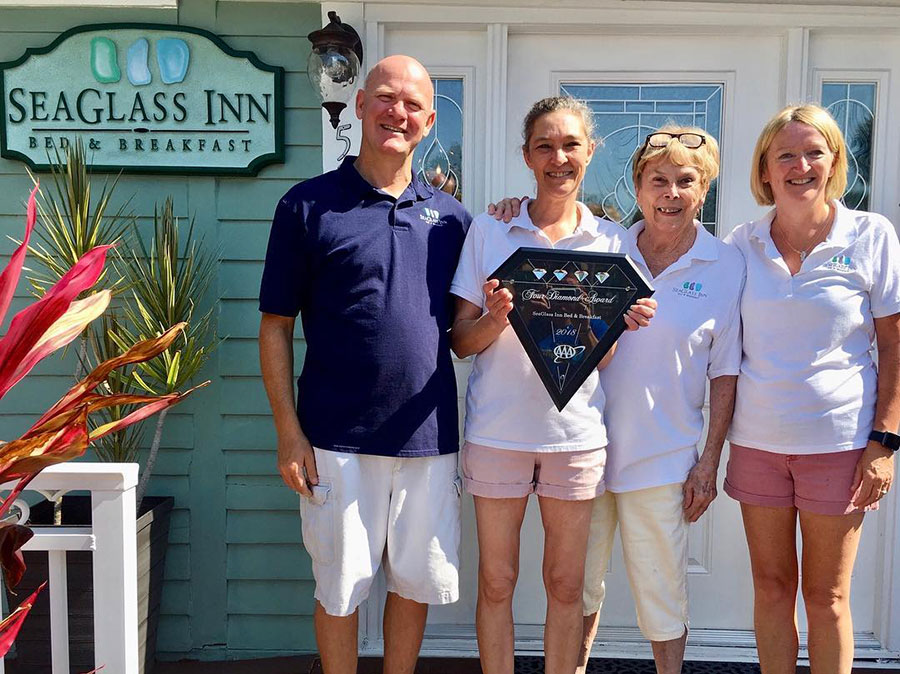 the staff of SeaGlass Inn Bed and Breakfast