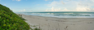 A Panorama of the Beach in Melbourne Florida